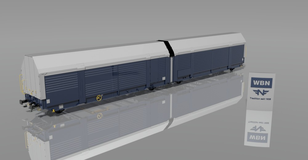 2x2-axle covered car transport wagon Hccrrs