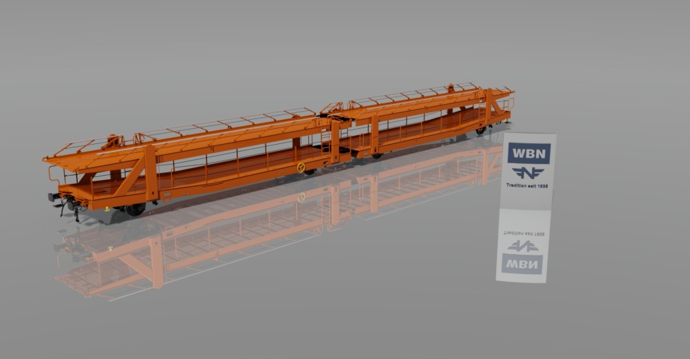 2x2-axle open car transport wagon Laaers