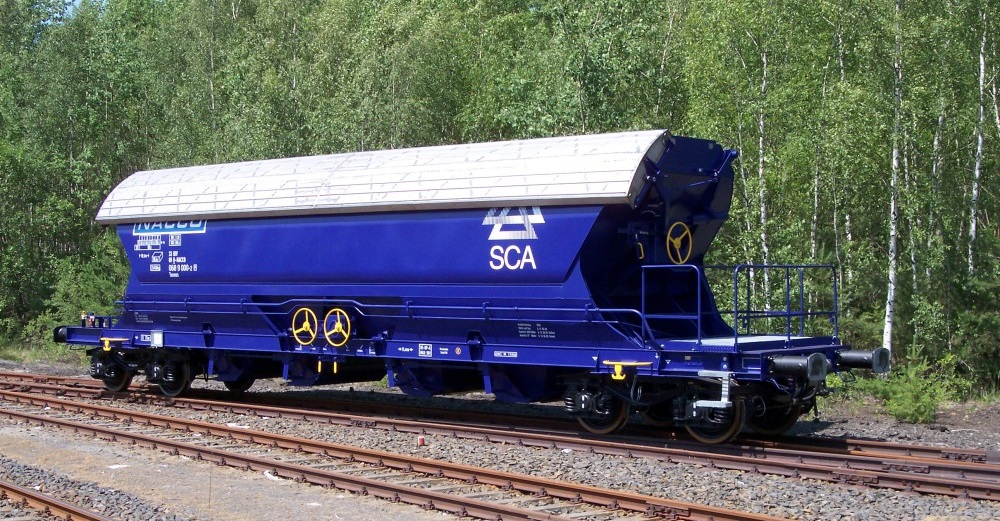4-axle central self-unloading wagon Tanoos