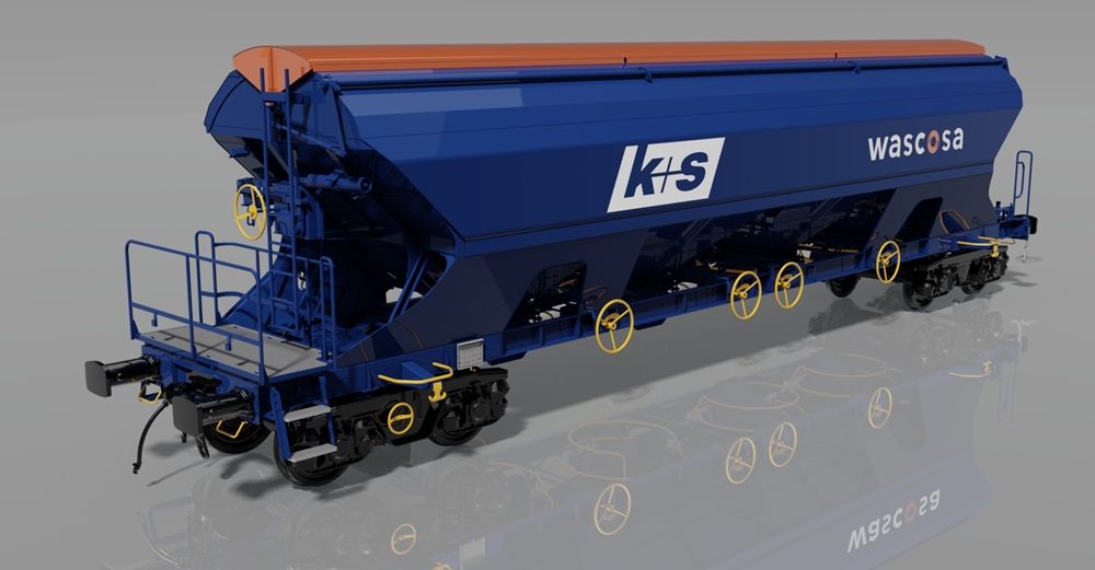 4-axle centre self discarge wagon Tanpps